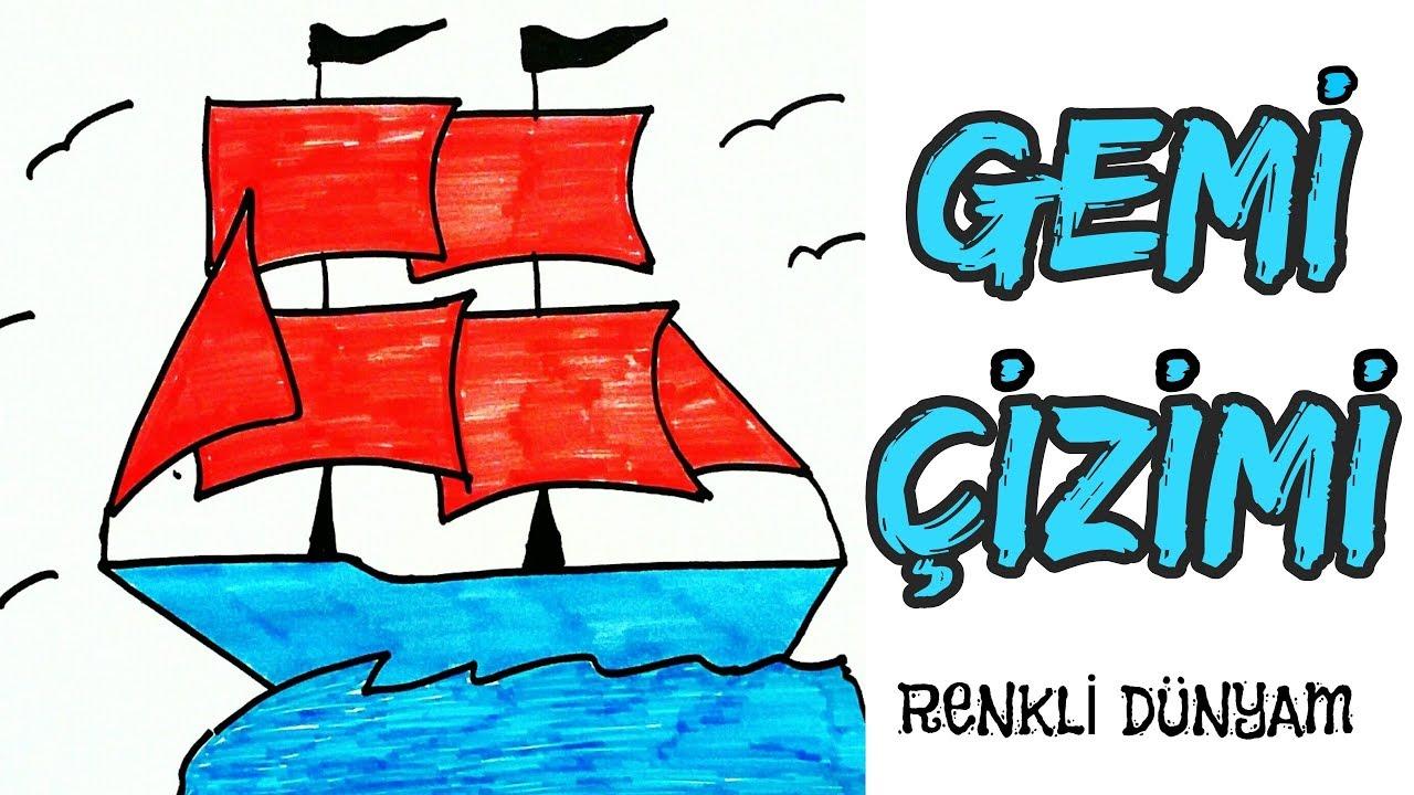 Yelkenli Gemi Nasıl çizilir Gemi çizimi How To Draw A Sailing