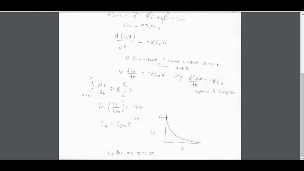 Material Balances, Problem Solution 2 (Reaction) on