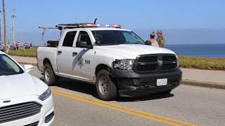 SUSPECT DRIVES OFF CLIFF!  Carjacking Suspect Vehicle Crashes into Pacific Ocean after Pursuit