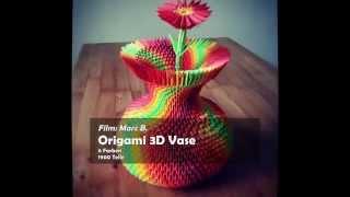 3d Origami Colorful Vase