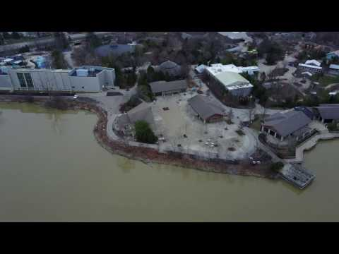 Columbus Zoo and Aquarium Waterfront and O'Shaughnessy Dam Aerial Footage