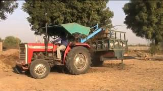 Tractor loading dung. Indian amazing farm equipment dump in machinery