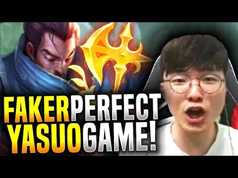Faker Makes the Perfect Game with Yasuo! - SKT T1 Faker Picks Yasuo Mid!   SKT T1 REPLAYS