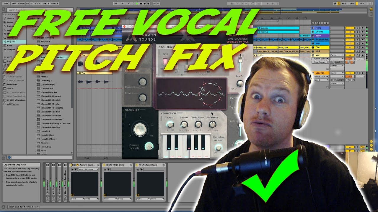 Free Vocal Pitch Correction VST - Graillon 2 Review