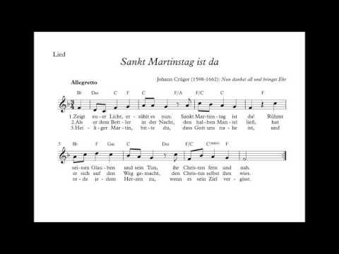 Sankt Martinstag ist da - Lied