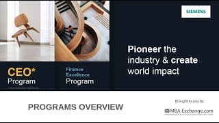 Siemens FEP & CEO* Program Virtual Event - Program Overview