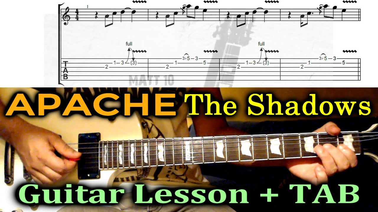 how to play the shadows apache on guitar