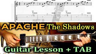 Apache (The Shadows) GUITAR LESSON with TAB