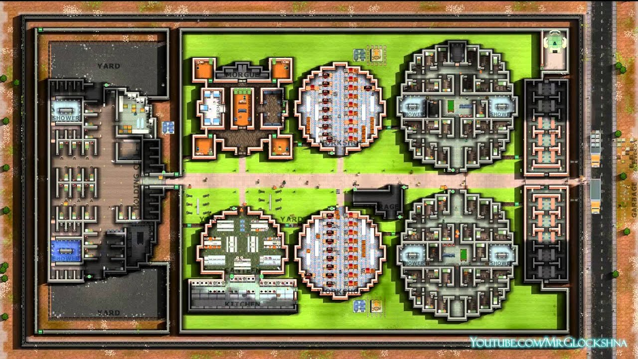 Prison architect a15c circular design prison operational for Jail architect
