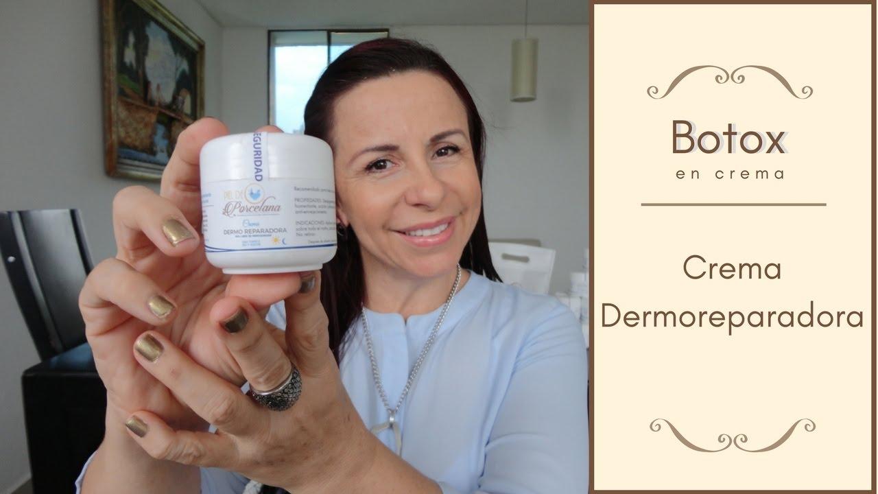 Ocultación Aventurarse adjetivo  BOTOX EN CREMA- Dermo Reparadora Piel de Porcelana - YouTube