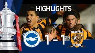 Brighton & Hove Albion vs Hull City 1-1, FA Cup 5th Round goals & highlights