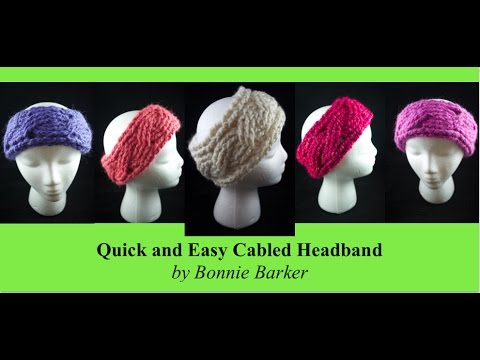Quick And Easy Cabled Headband Crochet By Bonnie Barker Youtube