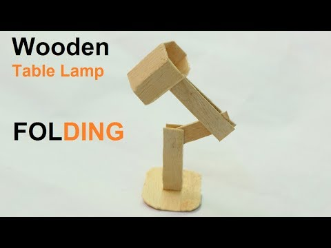 How to Make Popsicle Stick Table Lamp - DIY Wooden Folding Table Lamp at Home