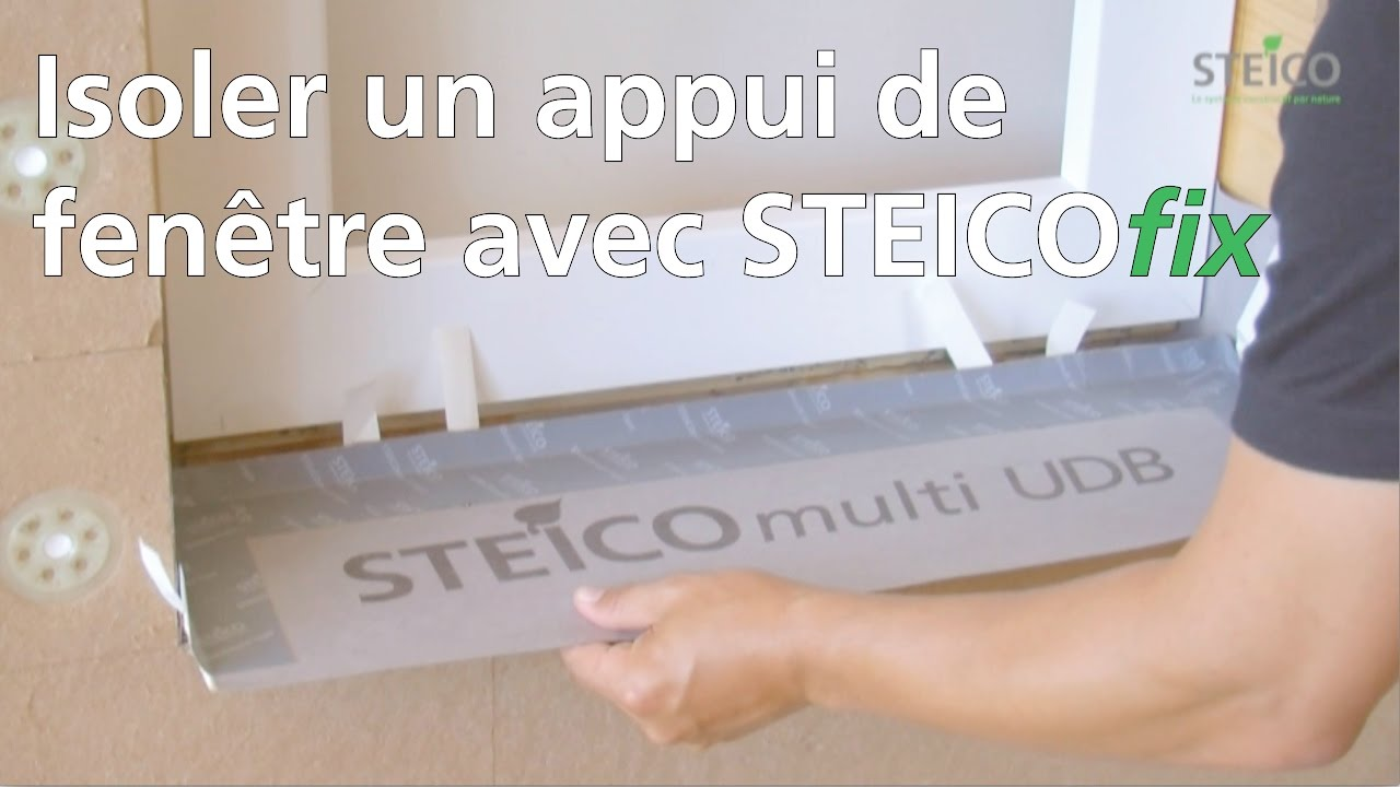 isolation des appuis de fen tre avec steicofix youtube. Black Bedroom Furniture Sets. Home Design Ideas