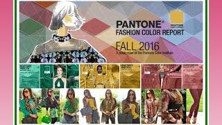видео Пантон осень-зима 2016-2017
