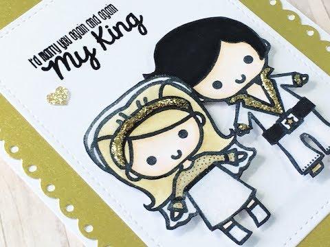 e1f0de78ef3f6 Anniversary Card | Elvis and Bride | Sweet Stamp Shop Burning Love