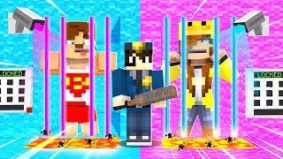 ERKEKLER VS KIZLAR HAPİSHANESİNDEN İMKANSIZ KAÇIŞ - Minecraft