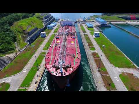 Leyte Spirit Transiting the Panama Canal | Teekay