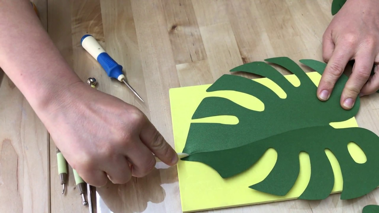 paper leaves sculpturing monstera paper leaves how to make monstera