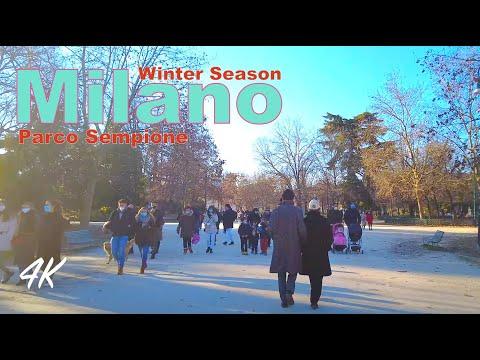 Milano virtual tour parco Sempione - winter season 2021