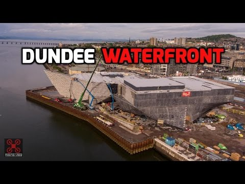 Aerial Drone Views of Dundee Waterfront May 2017