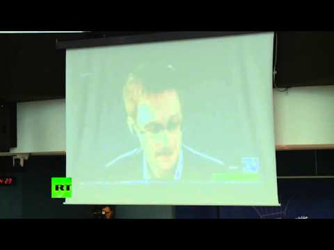 Mass Surveillance: Snowden testifying speech to the Council of Europe in Strasbourg