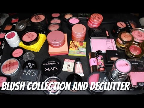 HUGE Blush Collection and Declutter | 90 Blushes!!