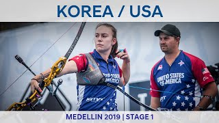 Korea v USA – recurve mixed team gold | Medellin 2019 World Cup S1