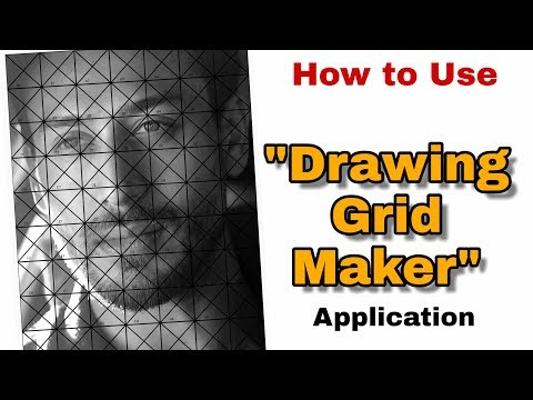Hindi Tutorial | How To Use Drawing Grid Maker Application | How To Grid Reference Photo For Outline
