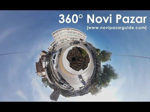 360° Novi Pazar, centar - kružni tok, 4K [www.novipazarguide.com]