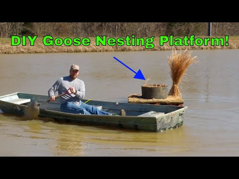 DIY Goose Nesting Platform LAUNCH! PART 2 Kapper Outdoors!