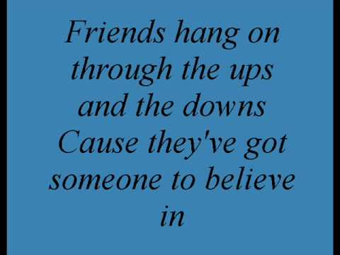 True Friend - Miley Cyrus / Hannah Montana (lyrics)