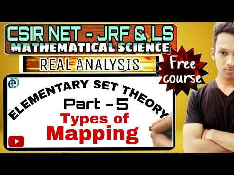 CSIR NET - SET THEORY || TYPES OF MAPPING || PART - 5