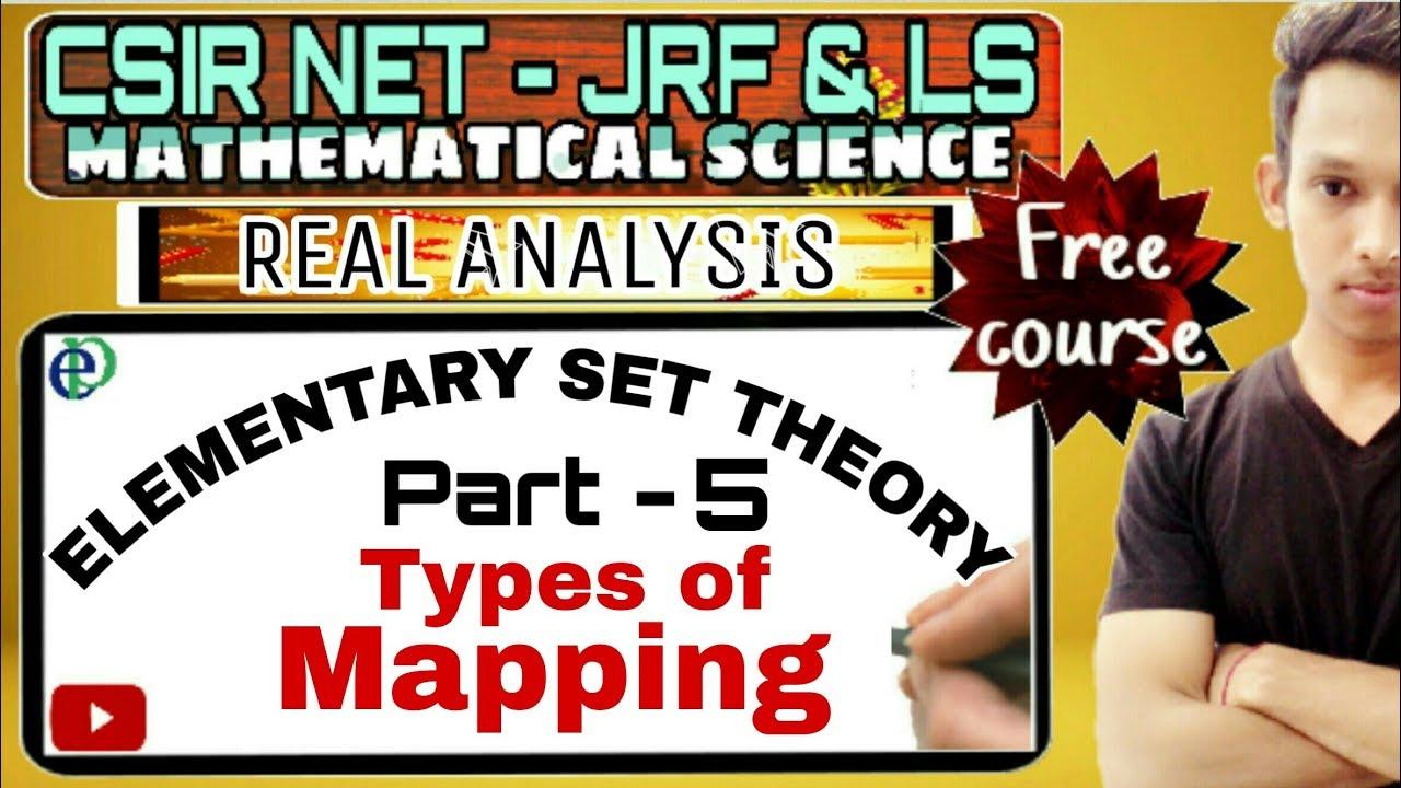 CSIR NET - SET THEORY || TYPES OF MAPPING || PART - 5 Set Theory Mapping on set diagrams, set type, set concept, set building techniques, set category, set mathematics, set application, set data structure, set design, set formulas, set theories,