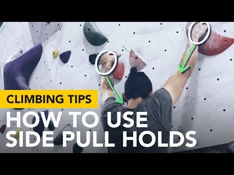Climbing Tips for Beginners: Crucial start using an opposition to hold on to side pull holds