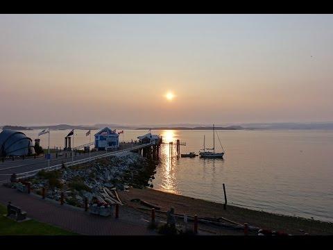 Sidney Waterfront Inn dusk & dawn timelapse