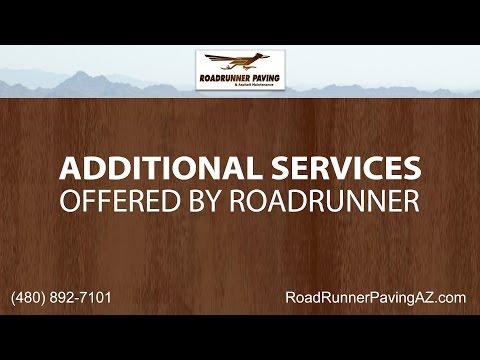 Additional Services Offered by Roadrunner Paving & Asphalt Maintenance
