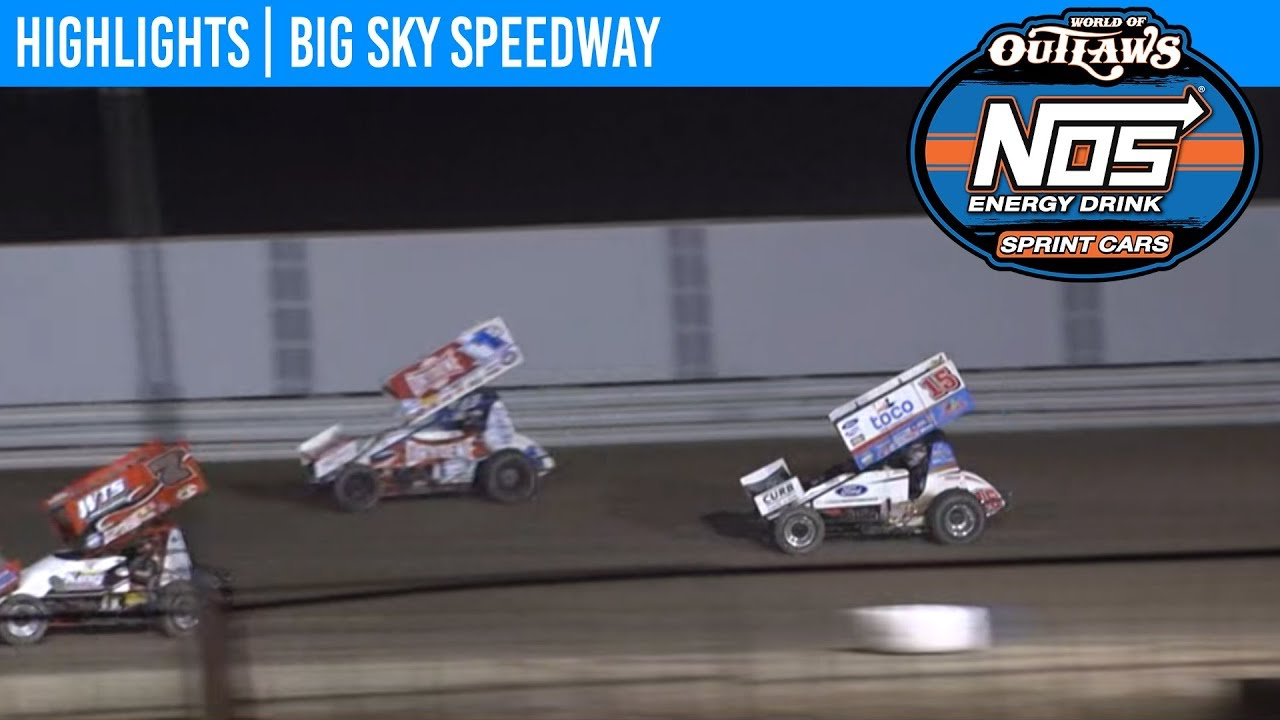 World of Outlaws NOS Energy Drink Sprint Cars Big Sky Speedway, August 24th, 2019 | HIGHLIGHTS