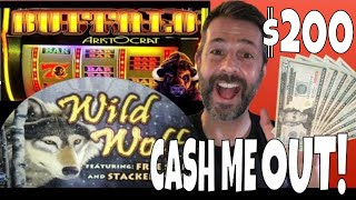 CASH ME OUT EPISODE 11!! ✧ 5x$40 ✧ BUFFALO 3 REEL ✧ WILD WOLF AND MORE SLOT MACHINE WINS
