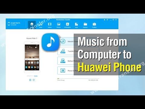 How to Add Music from Computer to Huawei Phone