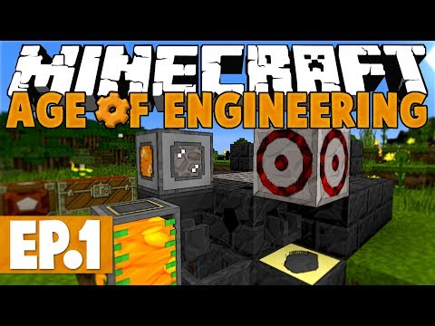 Minecraft Age of Engineering! #1 - The Stone Age! [Twitch VoD]