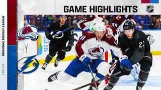 Avalanche @ Lightning 10/23/21 | NHL Highlights