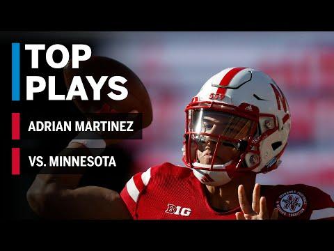 Top Plays: Adrian Martinez Highlights vs. Minnesota Golden Gophers | Big Ten Football
