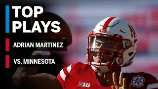 Top Plays: Adrian Martinez Highlights vs. Minnesota Golden Gophers | Big Ten Football
