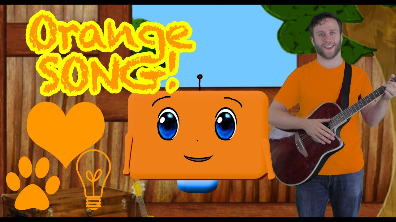 Learn the Color Orange!  A new kid song and nursery rhyme for your child!