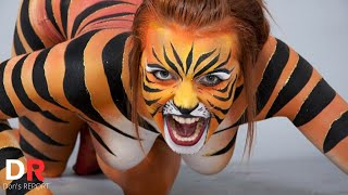 This Tiger Body Painting Art is Amazing!!! [ NEW ] 2020 Viral Video