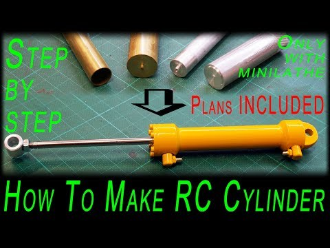How to make RC Cylinder only with minilathe [no cnc there] step by step [plans included]