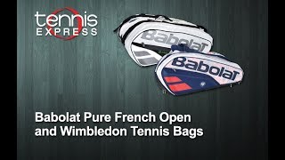 Babolat Pure French Open and Wimbledon Tennis Bags | Tennis Express