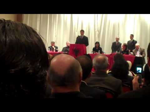 Albanian President Bamir Topi visit Detroit