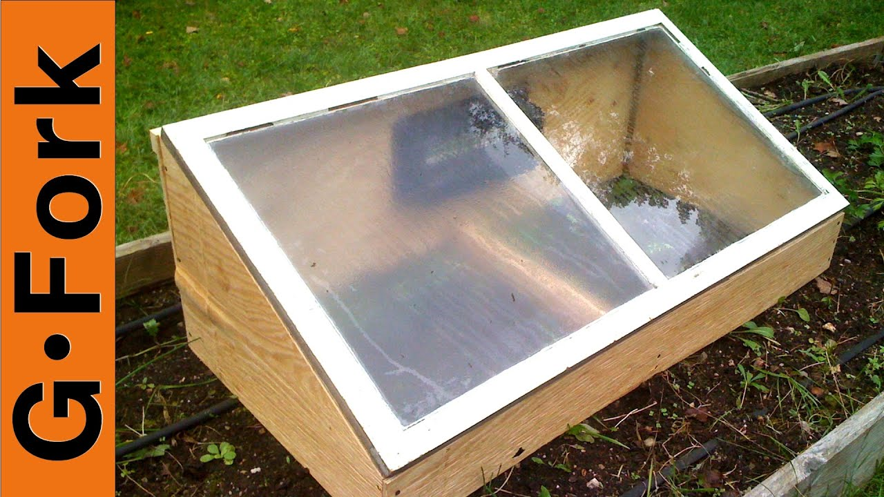 diy cold frame gardenfork youtube
